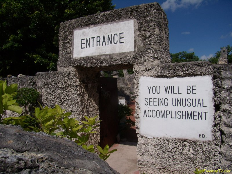 Coral Castle Unusual Accomplishment
