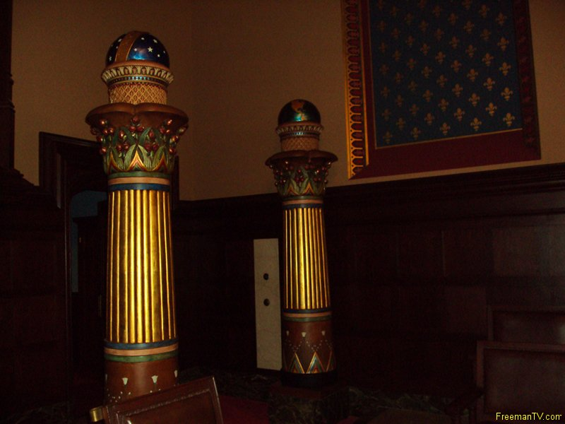 Twin Columns of Freemasonry