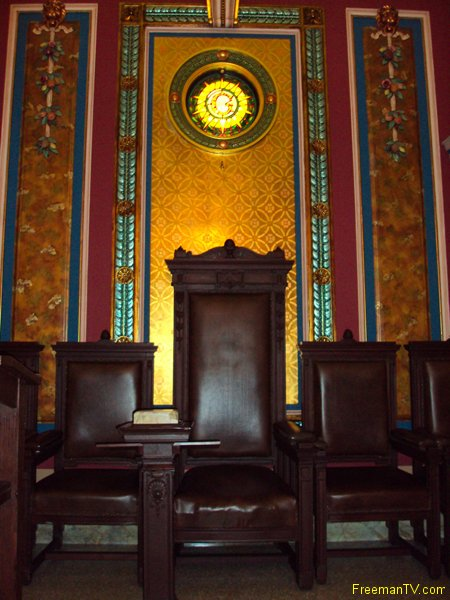 NY Grand Lodge Freemason Throne