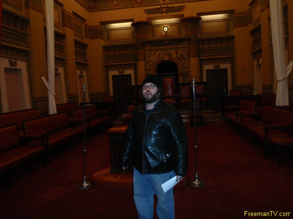 Dan Fogler at the Freemason Grand Lodge NY
