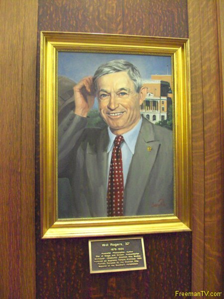 Will Rogers 33rd Degree Freemason