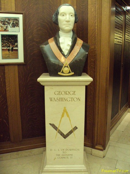 George Washington Freemason Bust