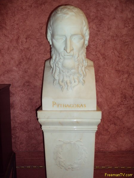 Bust of Pythagoras at 33rd Temple