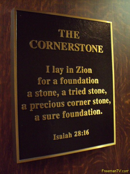 33rd Degree Freemason Zion Cornerstone