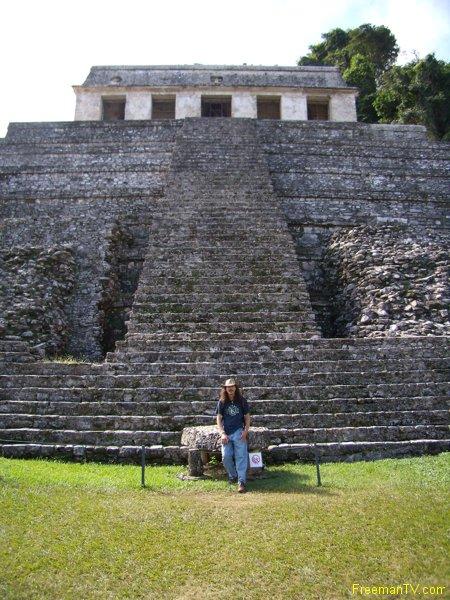 Freeman at Palenque Mayan Ruins