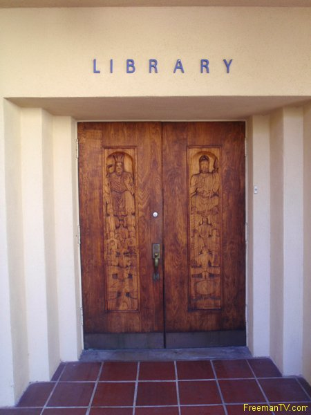 Doors of Manly P. Hall's Library
