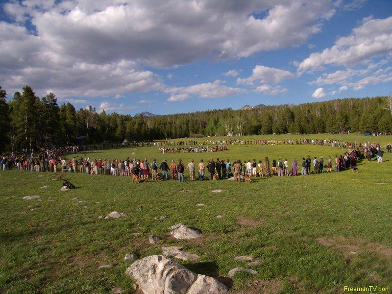 Rainbow Gathering Main Circle