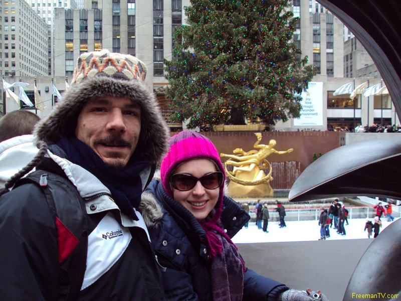 Jamie and Freeman at Rockefeller Center