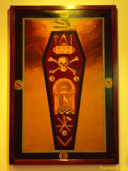 Skull and Crossbones Masonic Tracing Board