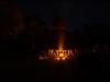 Mayan Fire at the Tikal Pyramids