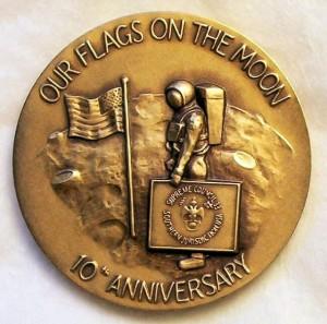 Freemason Flag on the Moon
