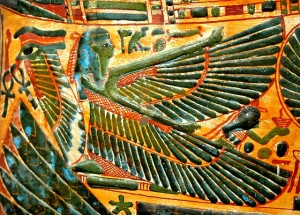 """Winged Neith"" Mummy-cover of Nesychonsw, 21a Dynasty, Thebes"